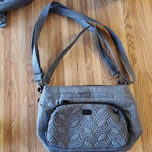 Lug Samba Cloth Crossbody Heather Gray Bag